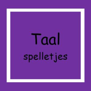 13. Taalspelletjes